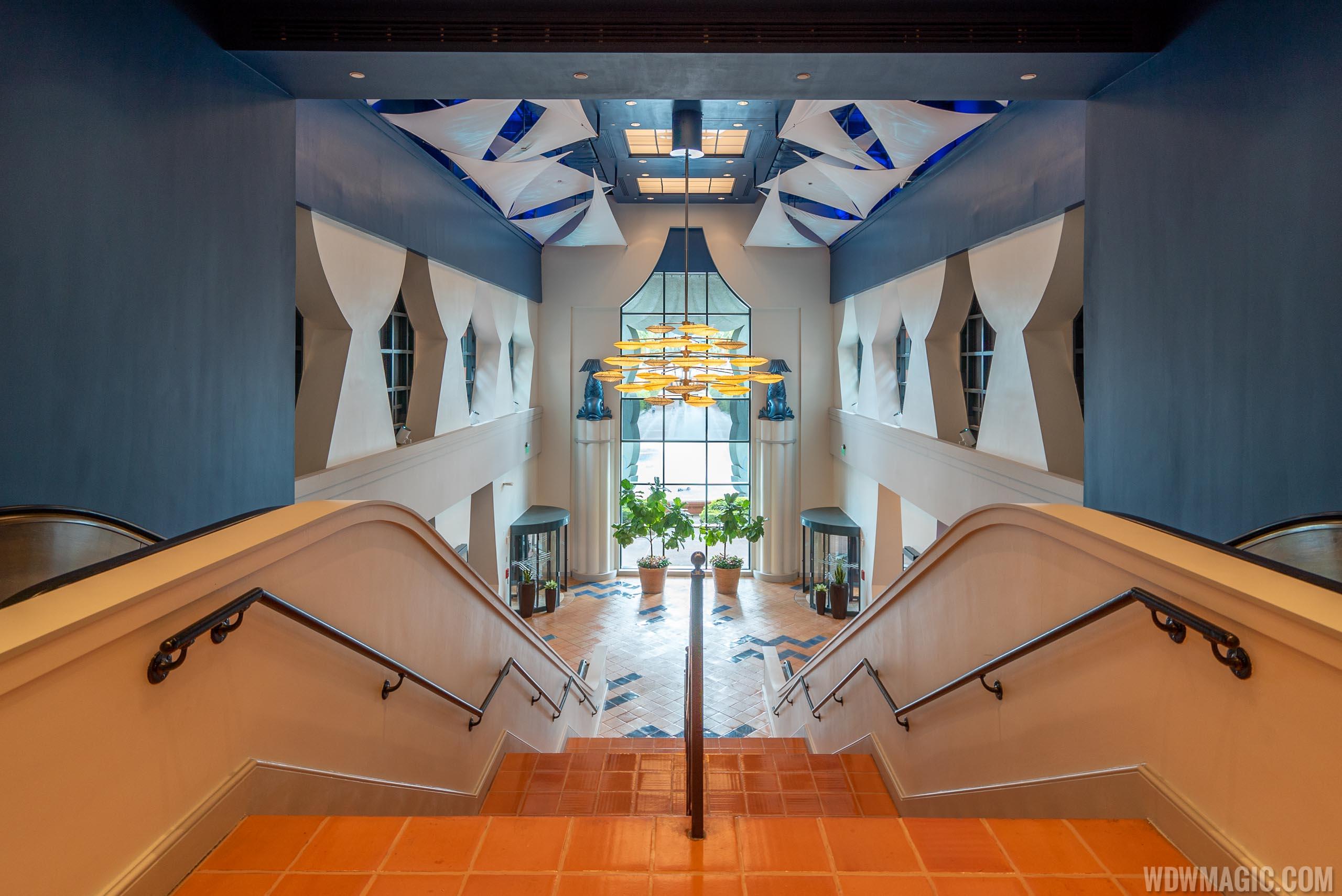 New look Walt Disney World Dolphin escalator and stairway