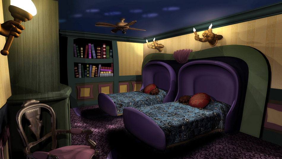 Survey concept art of Royal Room and Haunted Mansion Room