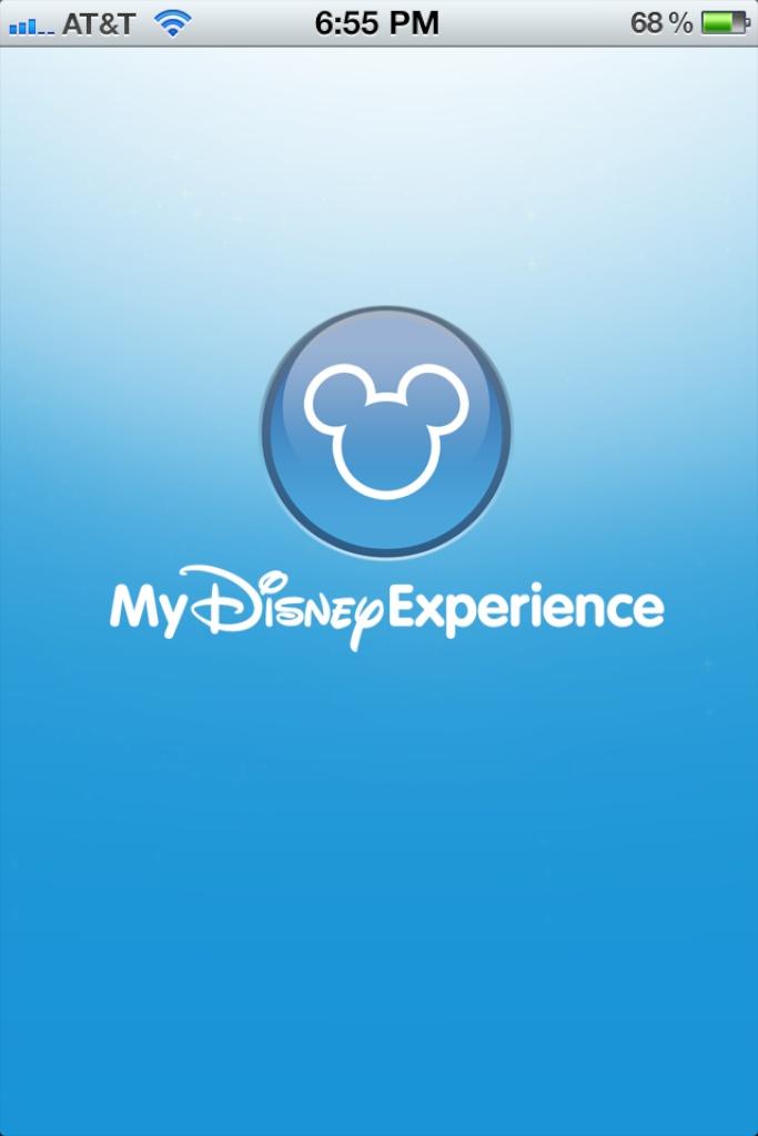 iPhone My Disney Experience App