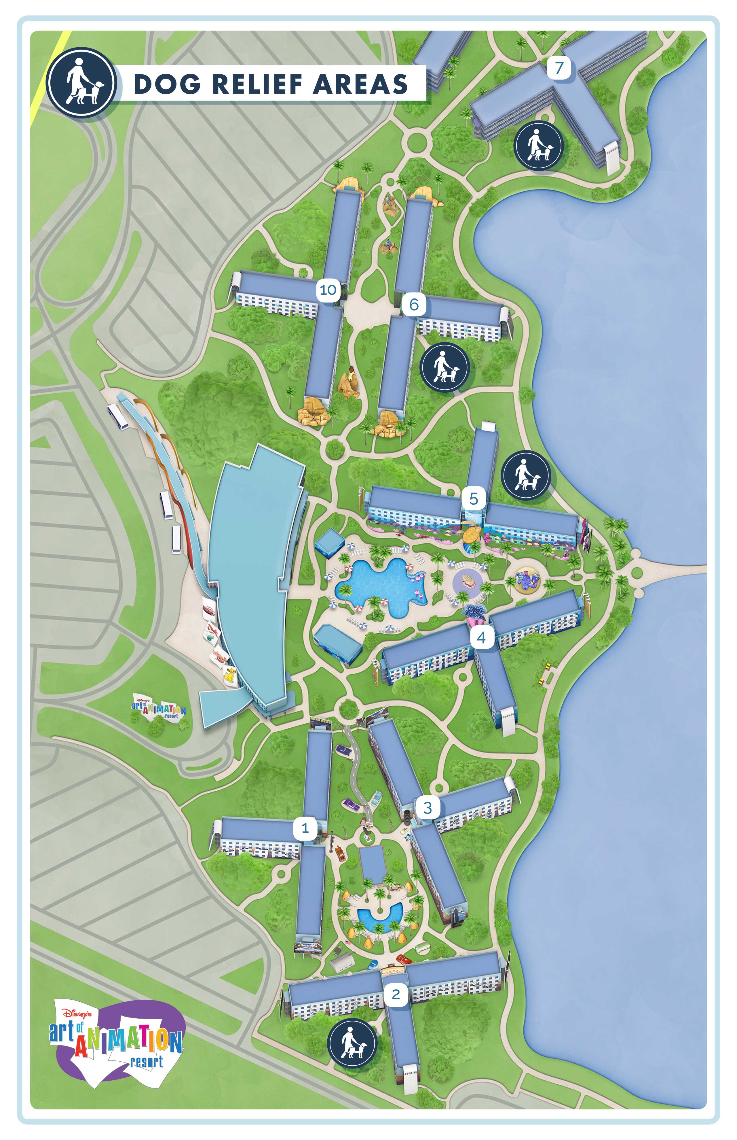 Dog Policies and Dog Relief Areas at Walt Disney World ... on wilderness lodge map, animal kingdom map, grand floridian map, crazy road map, bay lake tower map, boardwalk map, caribbean beach map, magic kingdom map, downtown disney map, art and animation, coronado springs map, best world map, all-star disney hotel map, usa map, art of disney, australian animal map, all star sports map, art in animation, disney world map, pop century map,