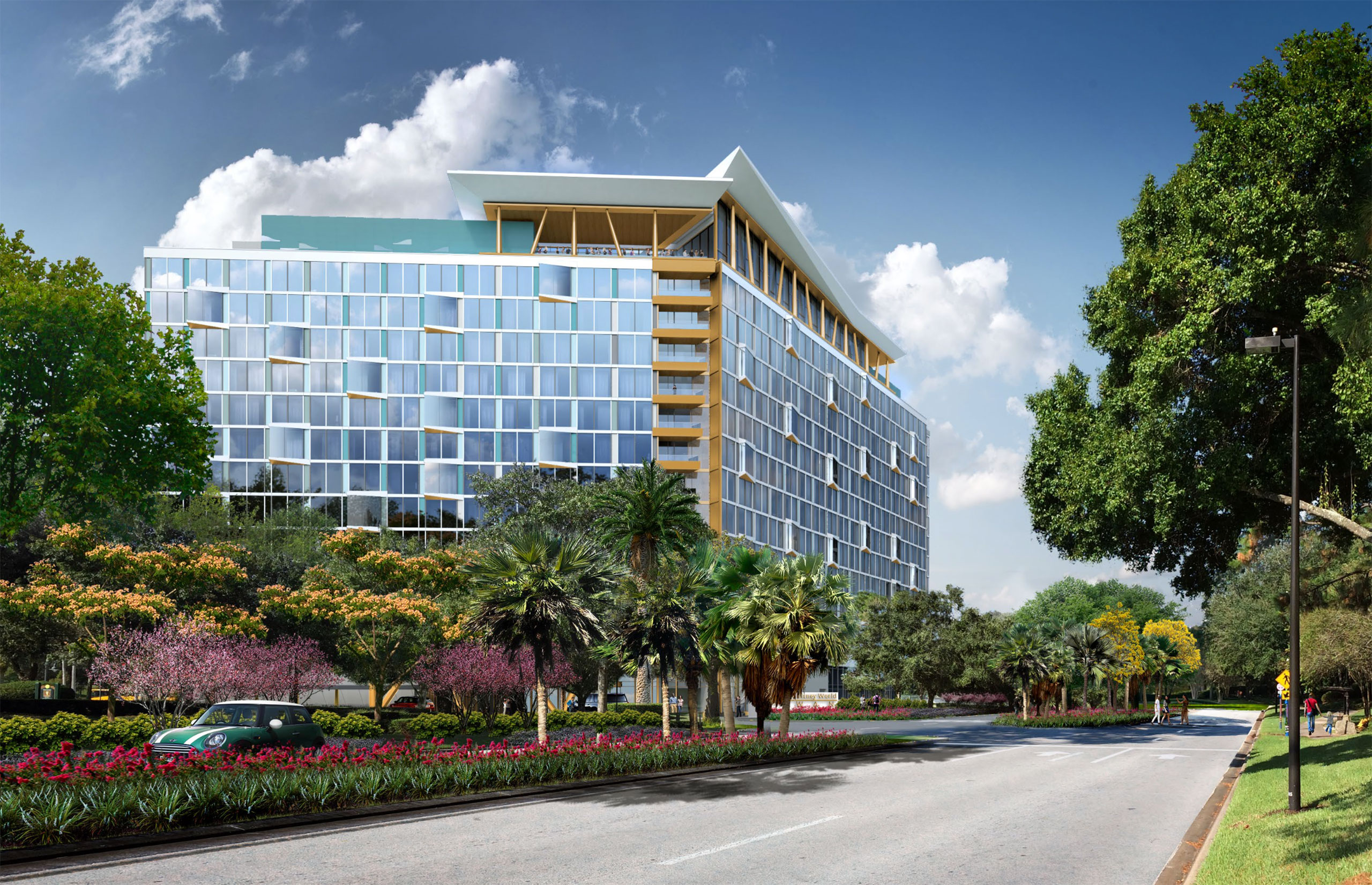 Concept art of the new Walt Disney World Swan and Dolphin Resort tower