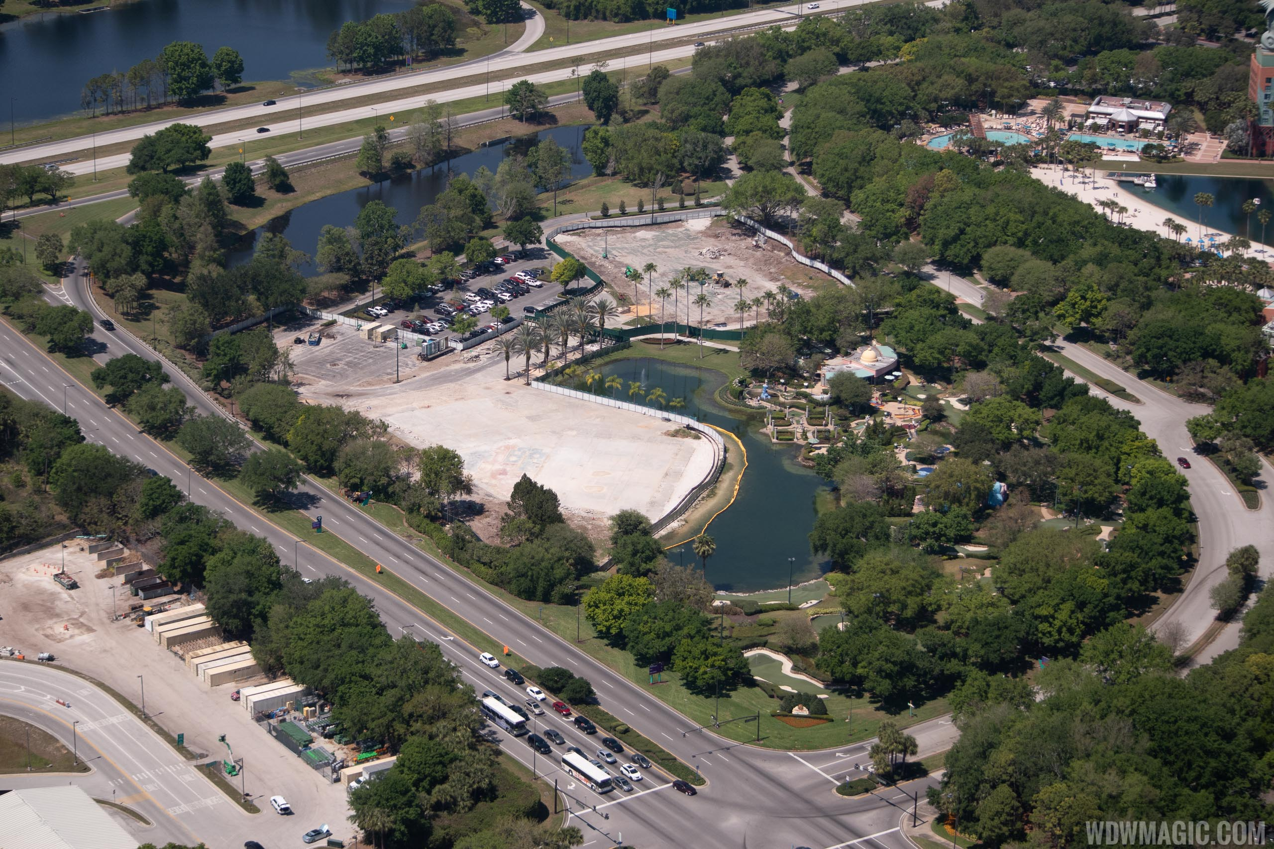 Walt Disney World Swan and Dolphin The Cove construction aerials - March 2019
