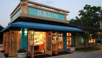 Basin undergoing refurbishment at Disney Springs
