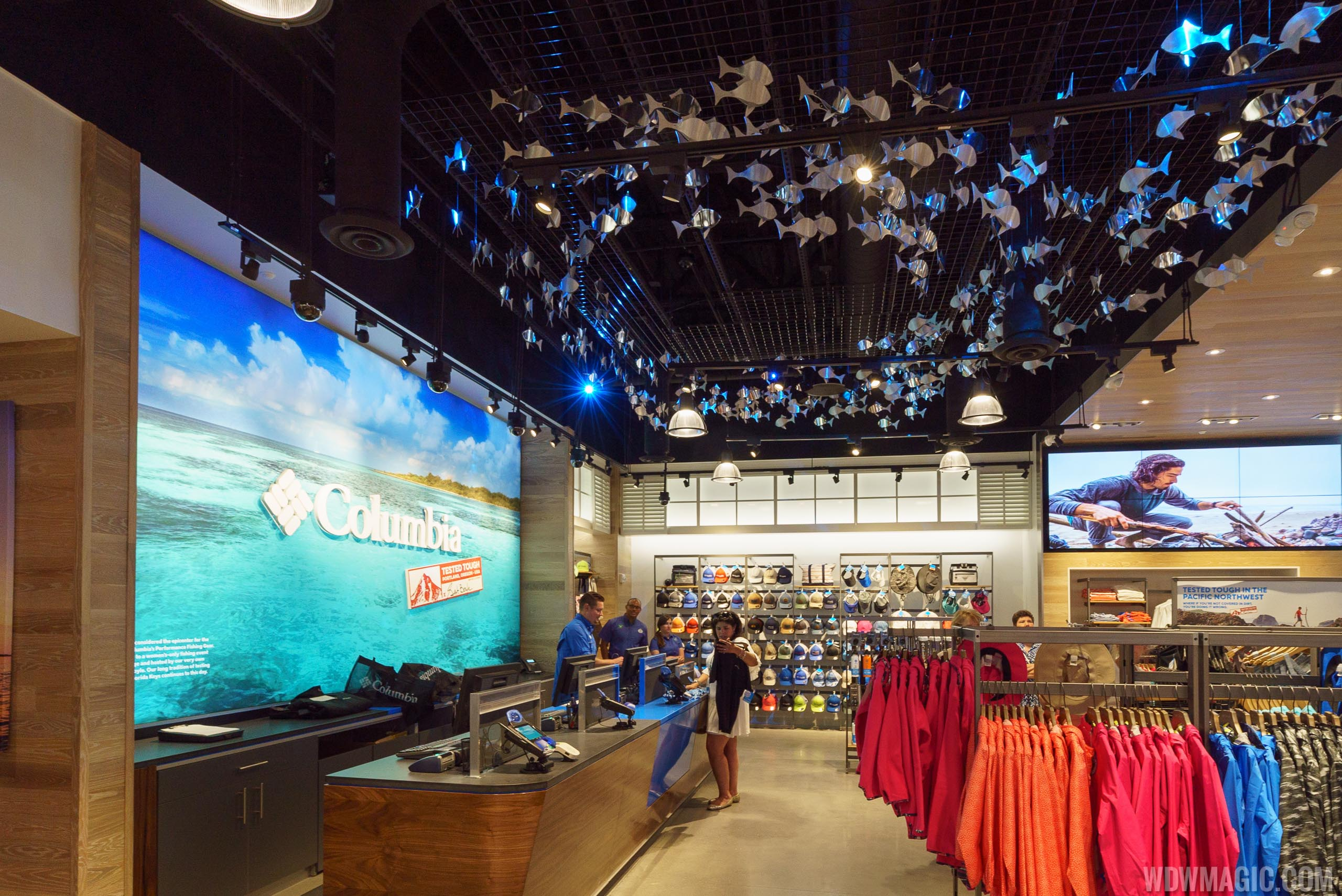 Inside Columbia Sportswear Company at Disney Springs