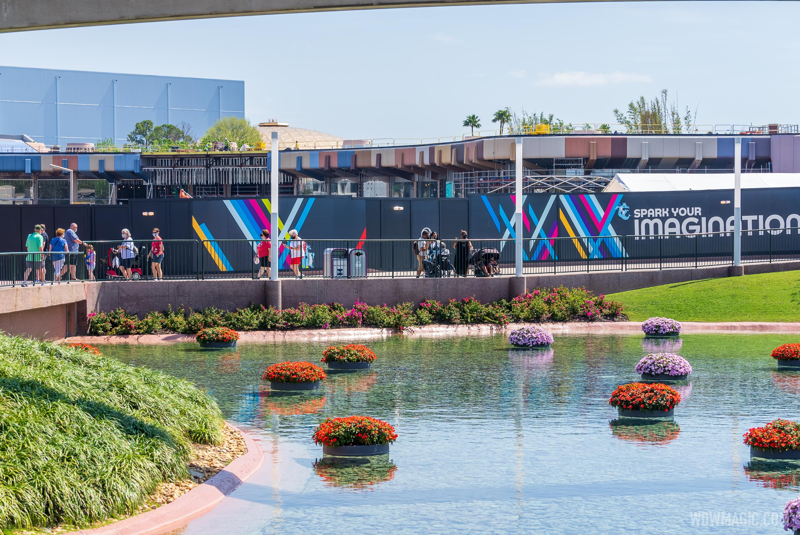 Latest construction progress at EPCOT'S new flagship retail store - 'Creations Shop'