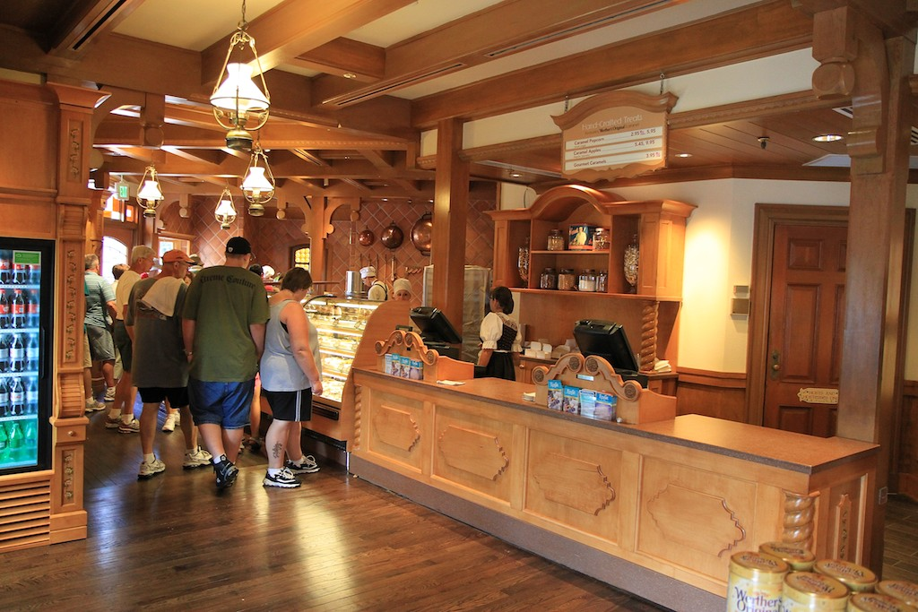 Opening day interior, food and merchandise