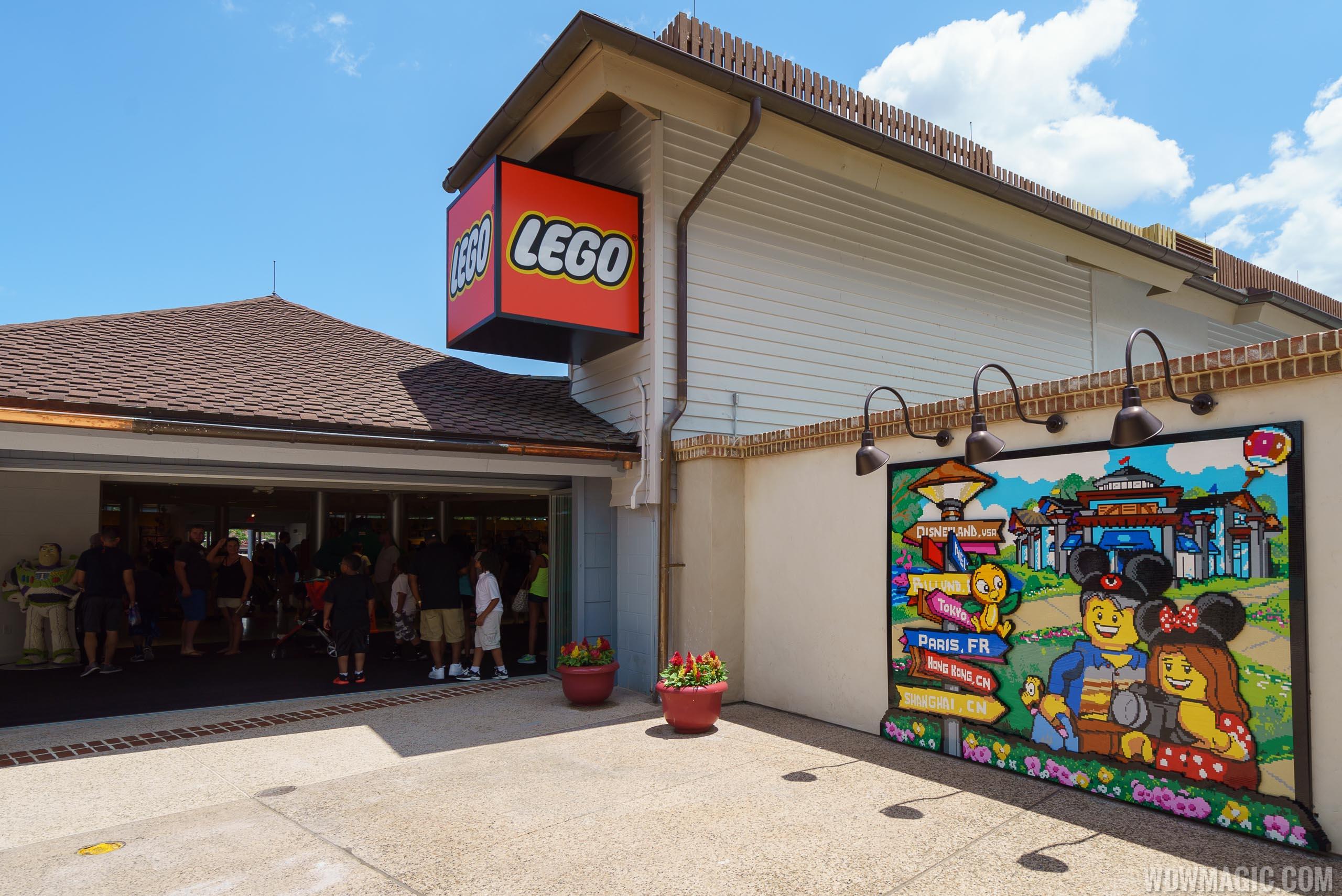 LEGO mural at Disney Springs Town Center entrance