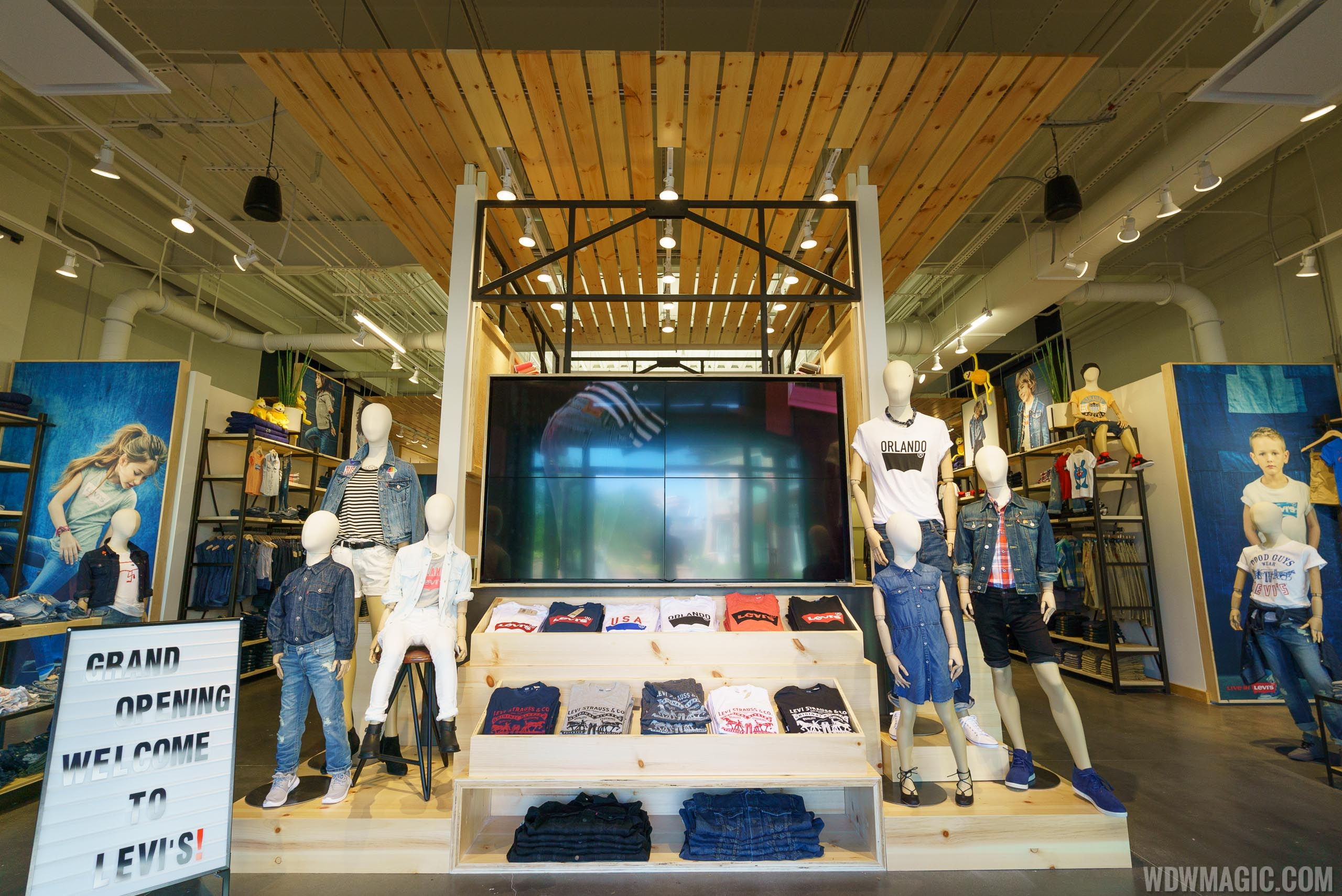 Inside the Levi's Store at Disney Springs