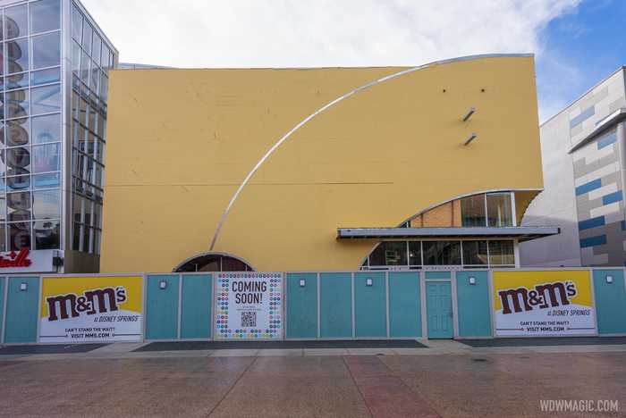 M&M'S Store Disney Springs construction - December 10 2020