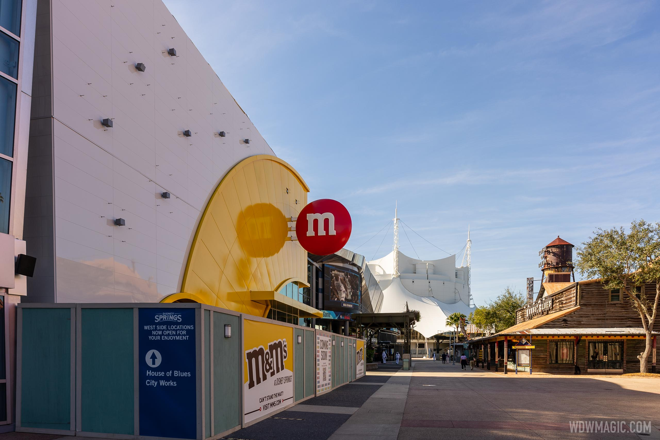 M&M'S Store Disney Springs construction - January 19 2021