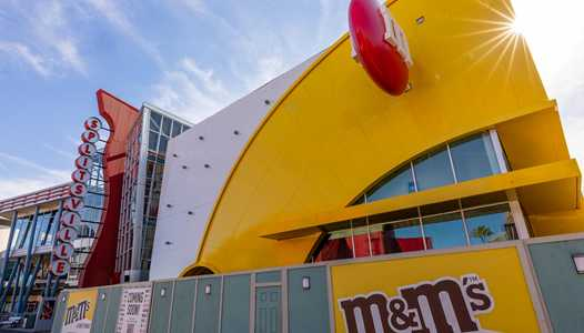 PHOTOS - Exterior of Disney Springs M&M's store nears completion as opening nears