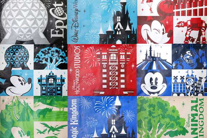 Walt Disney World reusable bag designs February 2019