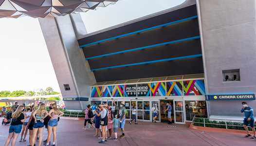 'Pin Traders and Camera Center' area beneath Spaceship Earth closing for several weeks as concrete work continues at EPCOT'S main entrance