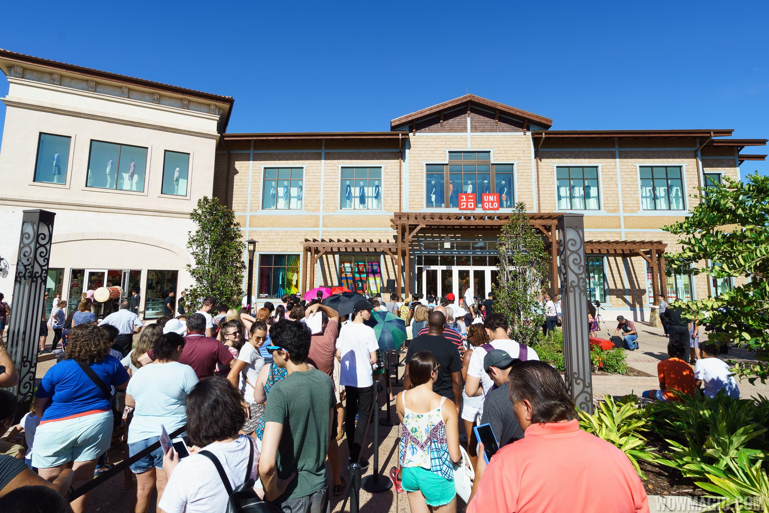 Crowds gather for the opening of UNIQLO at Disney Springs
