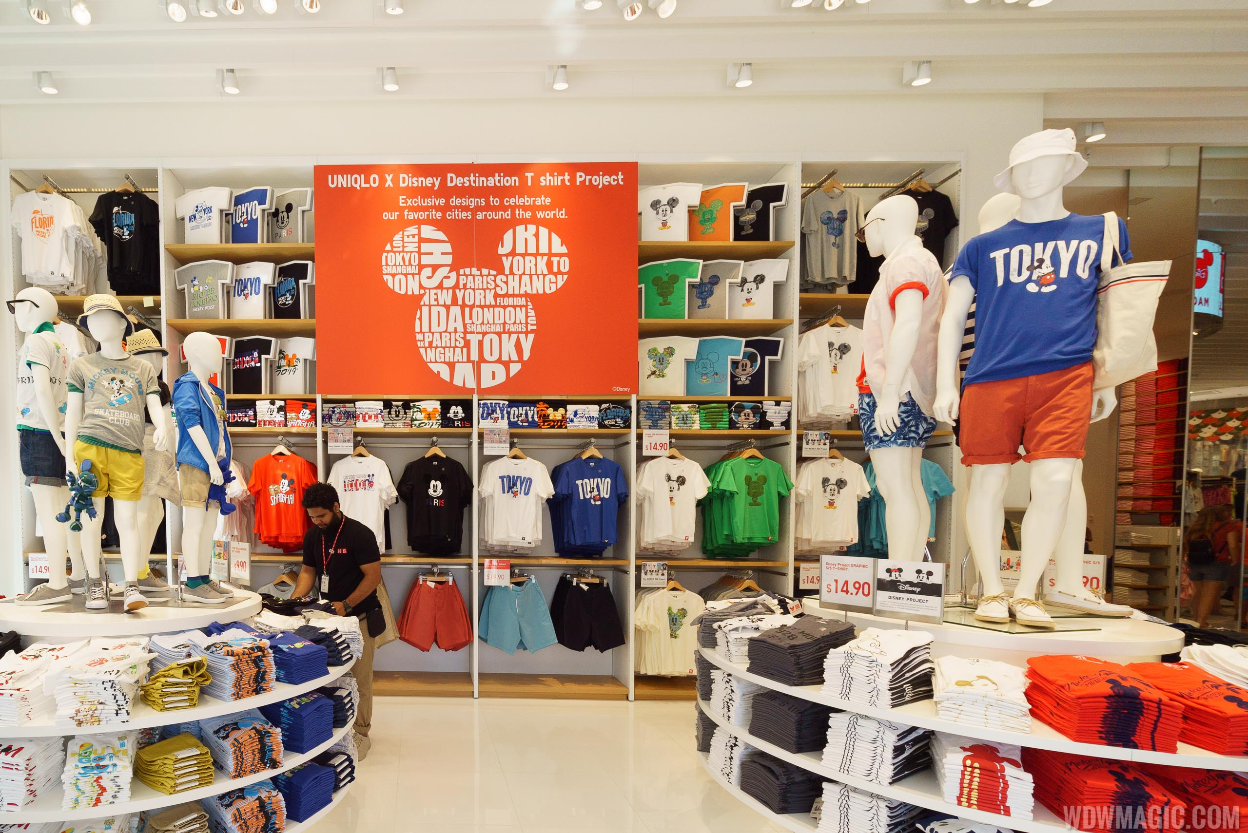 Disney T Shirt project at UNIQLO Disney Springs