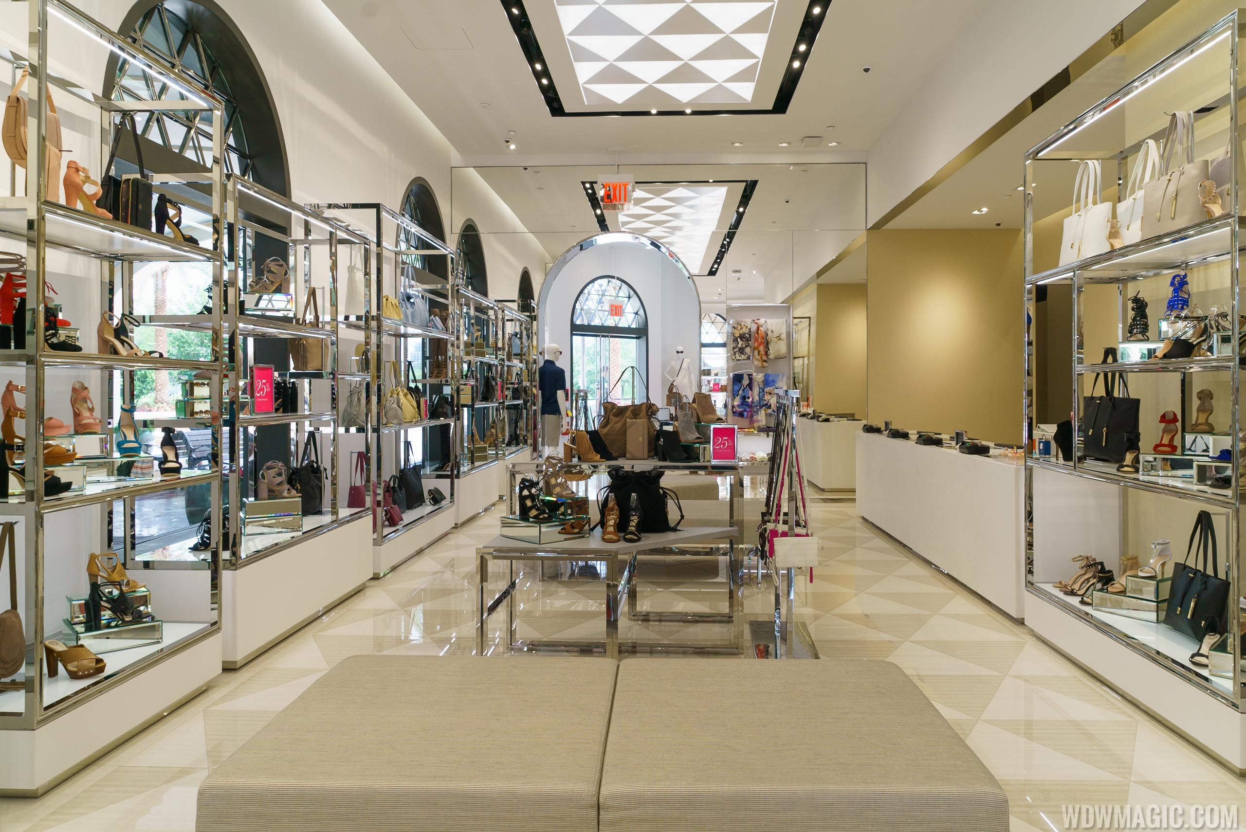 Inside the Vince Camuto store at Disney Springs