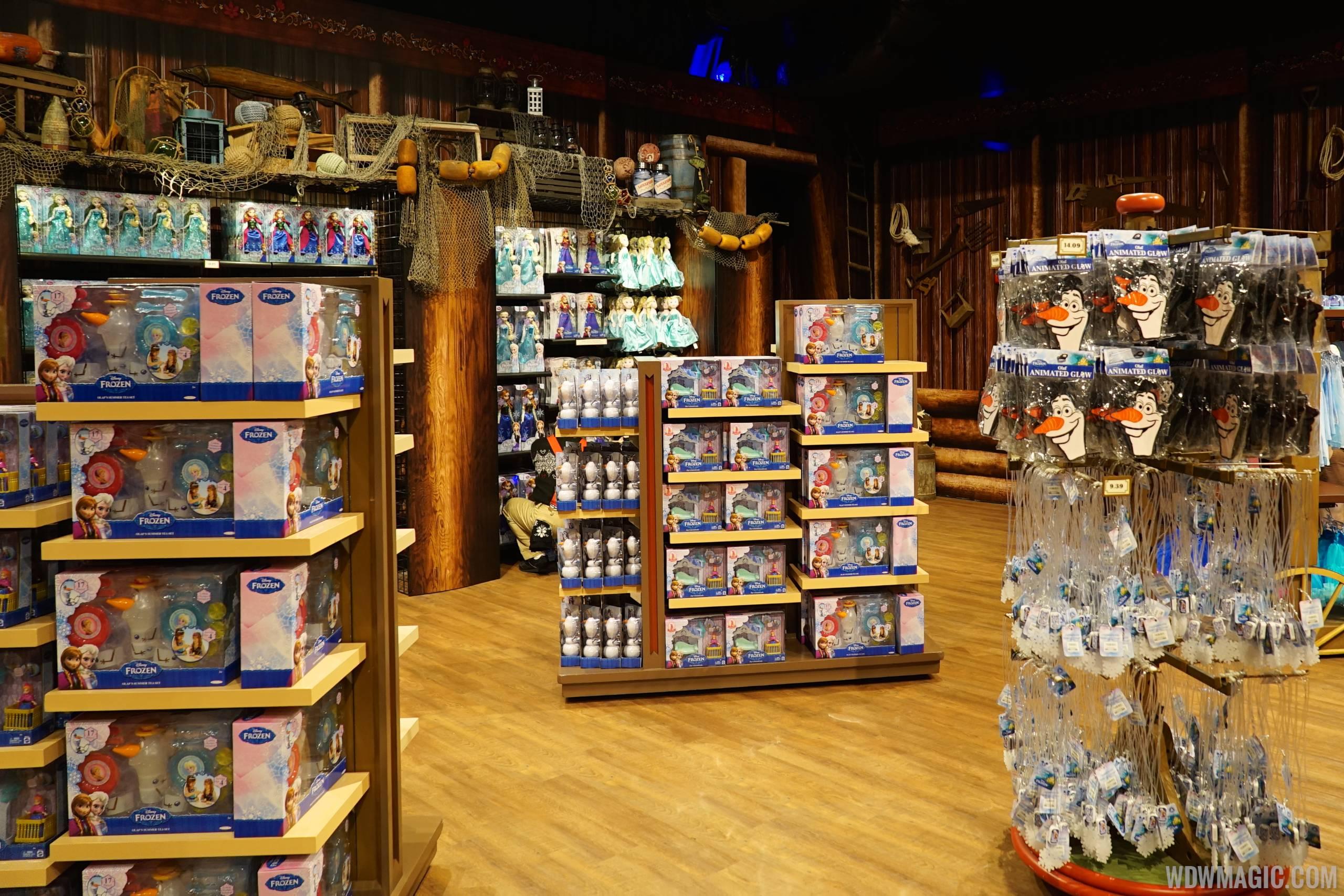 Inside the Frozen gift store