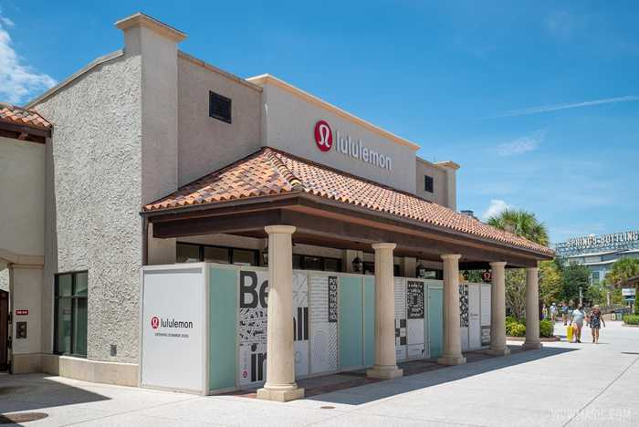 lululemon Disney Springs construction - August 11 2020