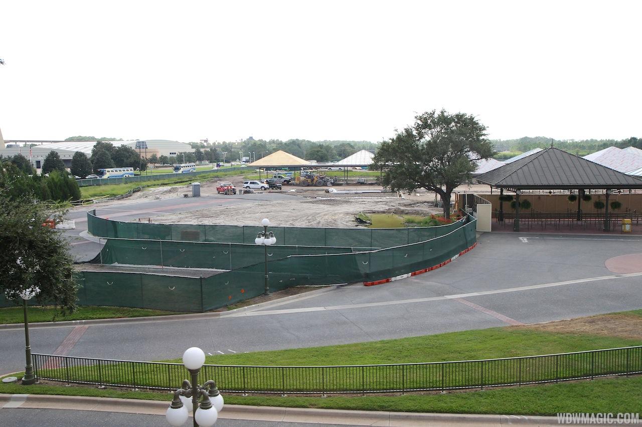 Magic Kingdom bus stop expansion construction