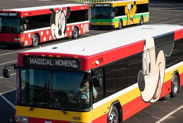 Walt Disney World Character wrap busses