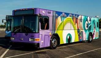 PHOTOS - More character-themed wraps coming to the Walt Disney World bus fleet