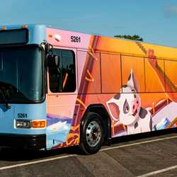 Disney Movie Character Bus wraps
