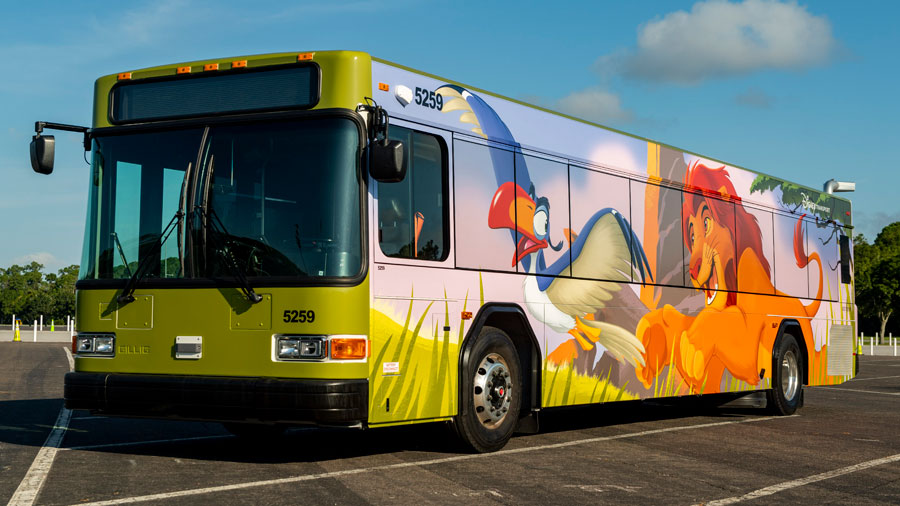 Lion King bus wrap