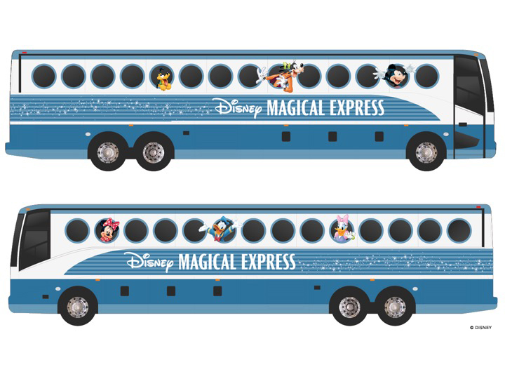 The new Disney Magic Express design for 2018