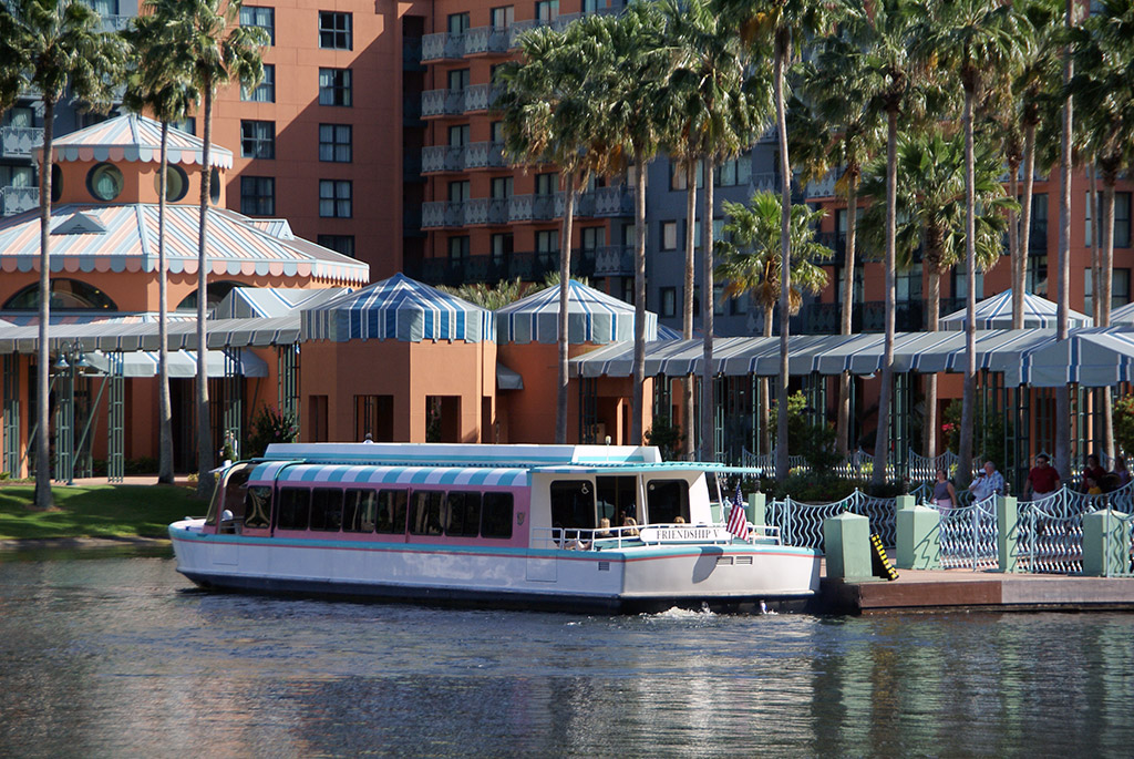 The Swan and Dolphin boat dock