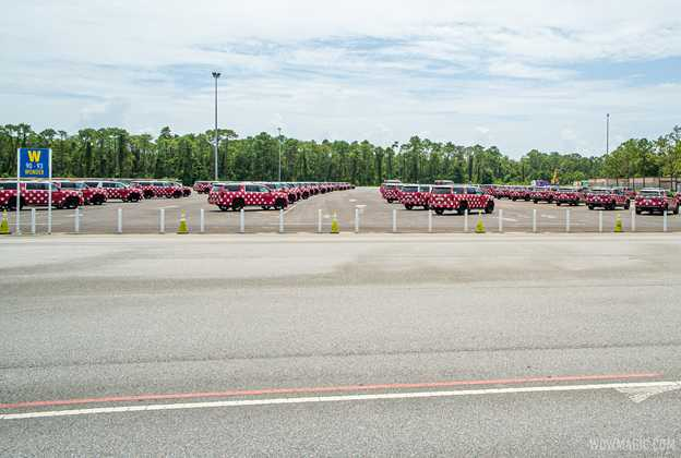 Minnie Van fleet stored at EPCOT