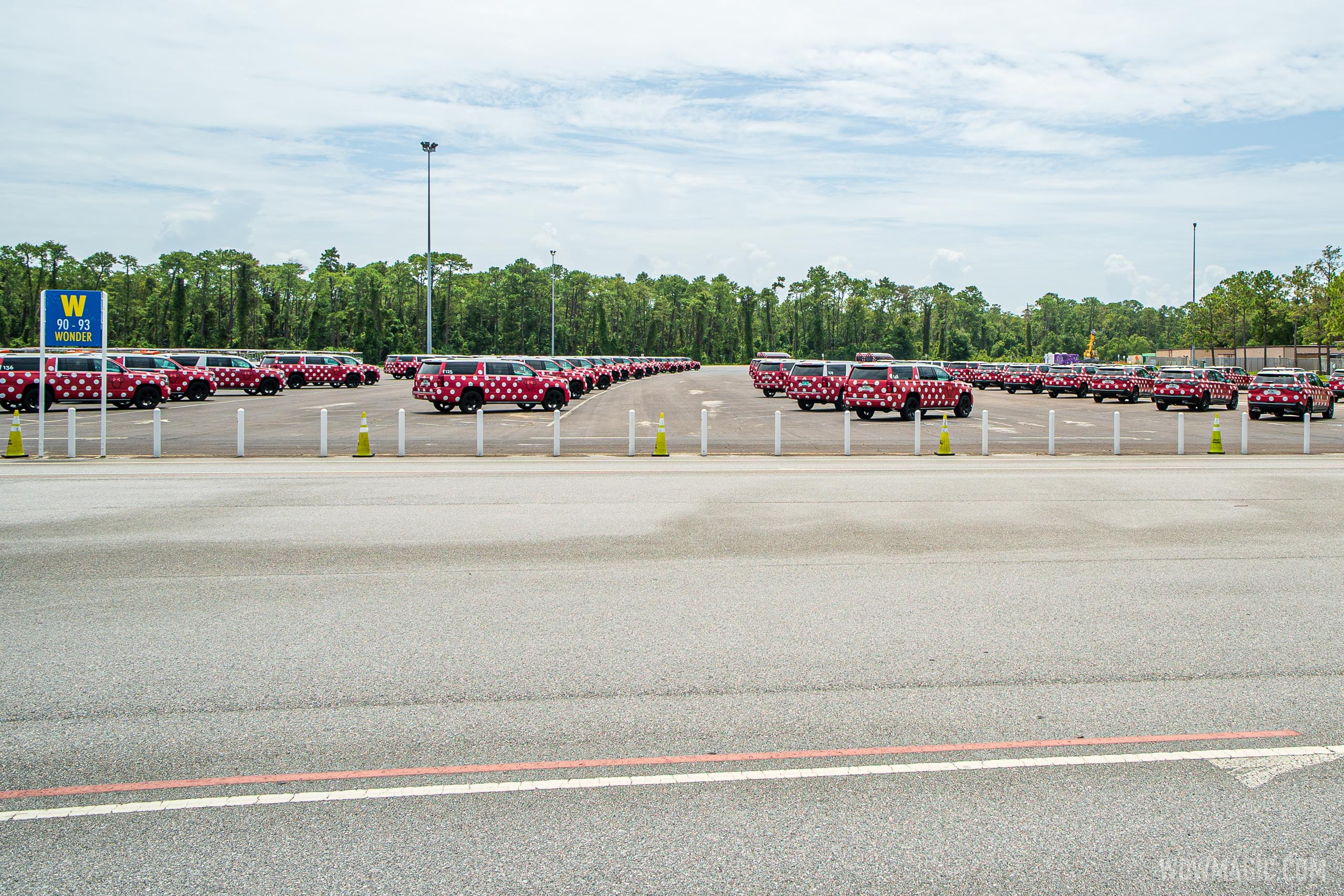 What remains of Disney's Minnie Van fleet is parked at EPCOT