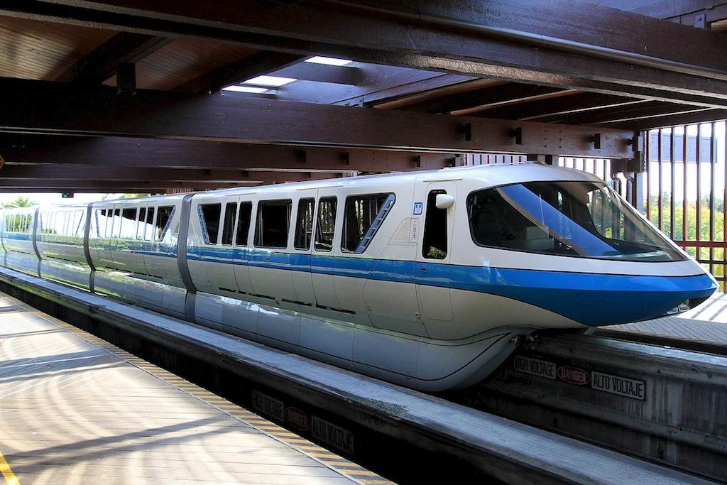 Monorail at the Polynesian Resort