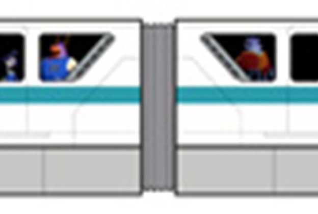 Monsters University Monorail concept art