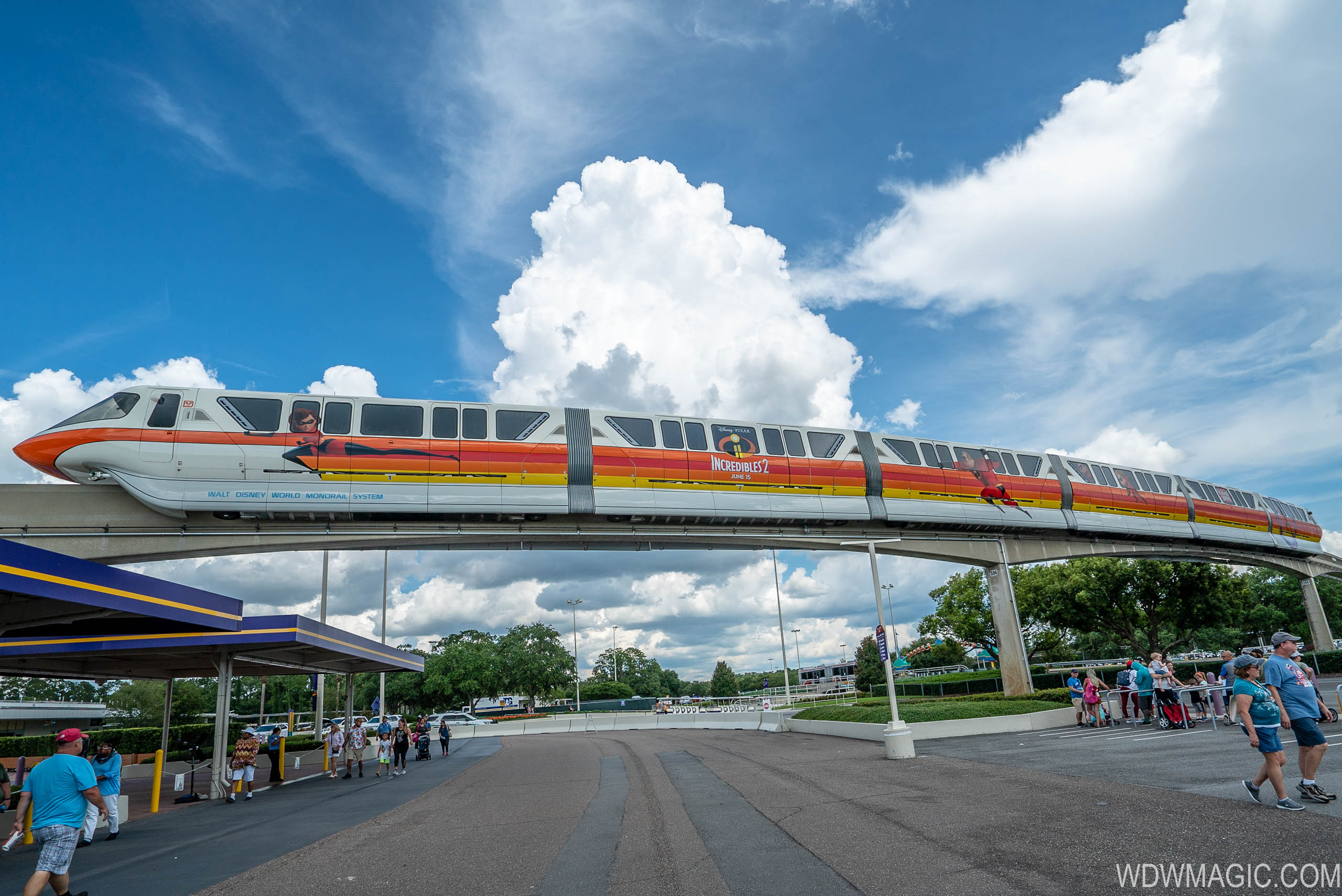 PHOTOS - Incredibles 2 Monorail takes to the Epcot line