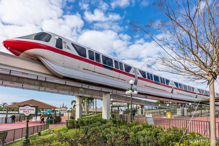 Repainted Monorail Red - February 2021