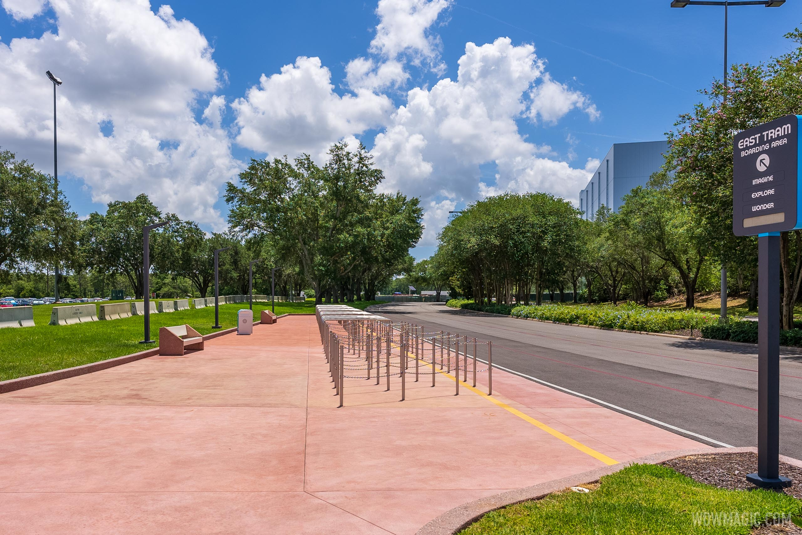 Activity at EPCOT'S Parking Trams hints at a possible return to operation