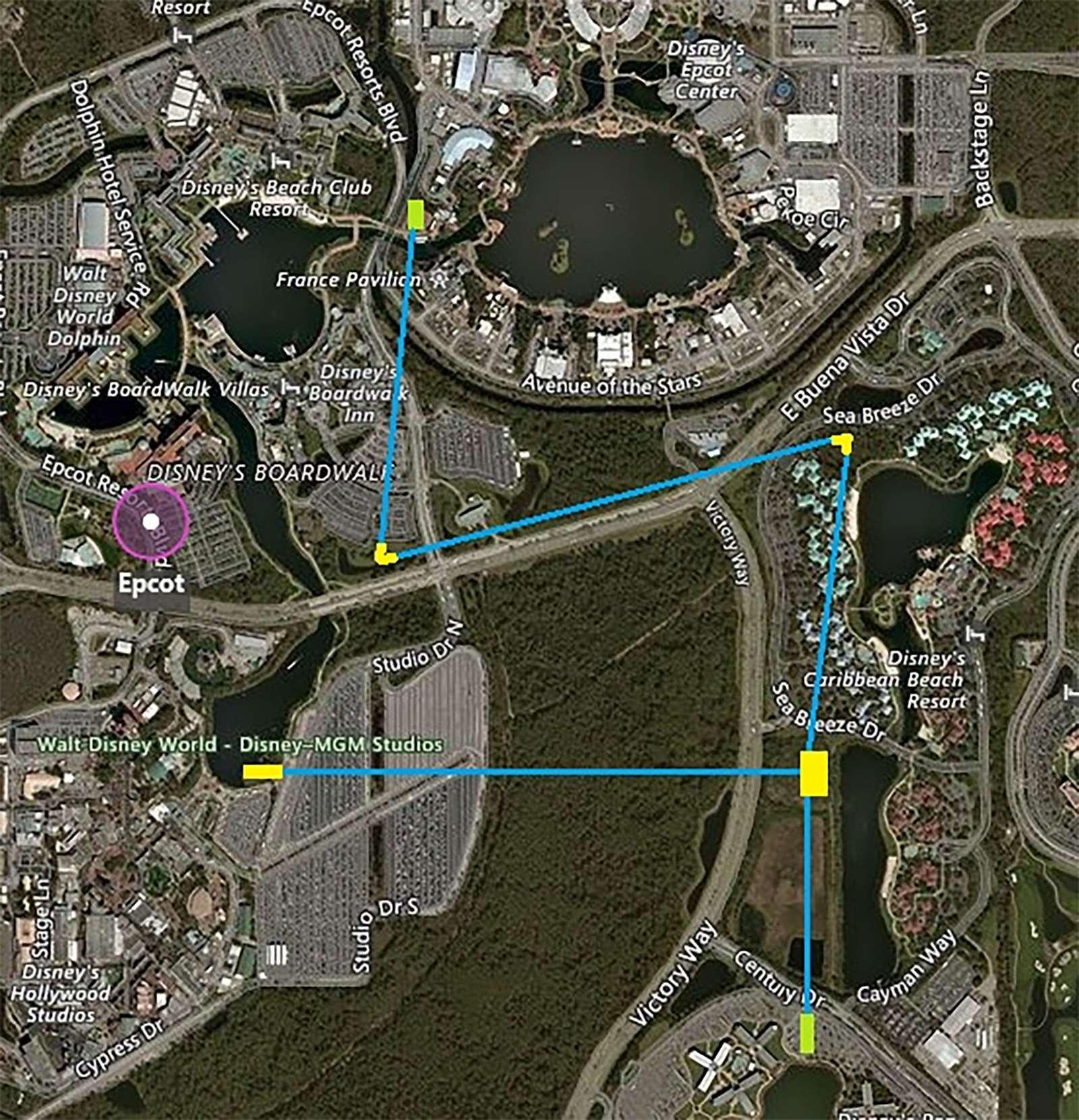 Walt Disney World Gondola map - Photo 1 of 1
