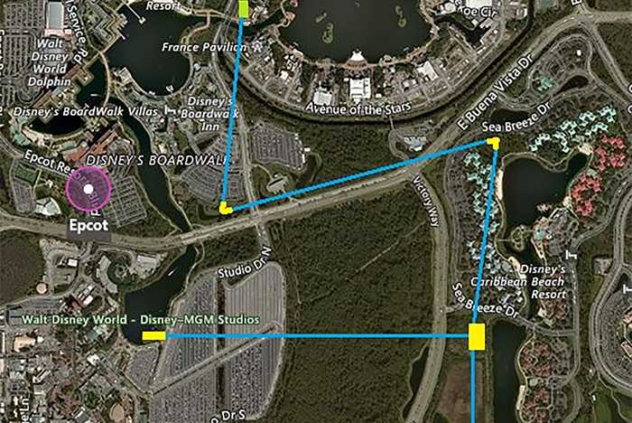 Walt Disney World Gondola map