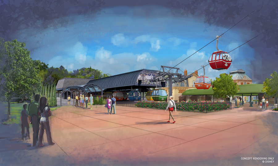 Disney Skyliner station at International Gateway at Epcot