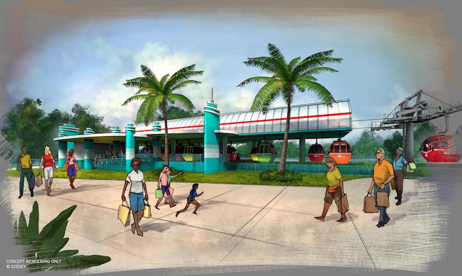 Disney Skyliner station at Disney's Hollywood Studios