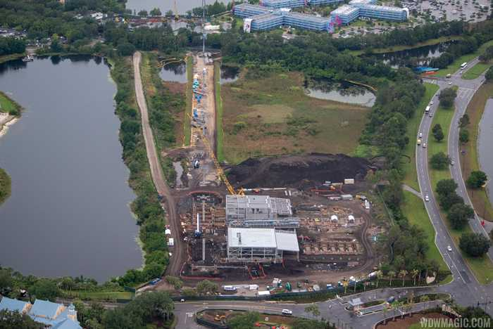 Disney Skyliner construction aerial views - May 2018