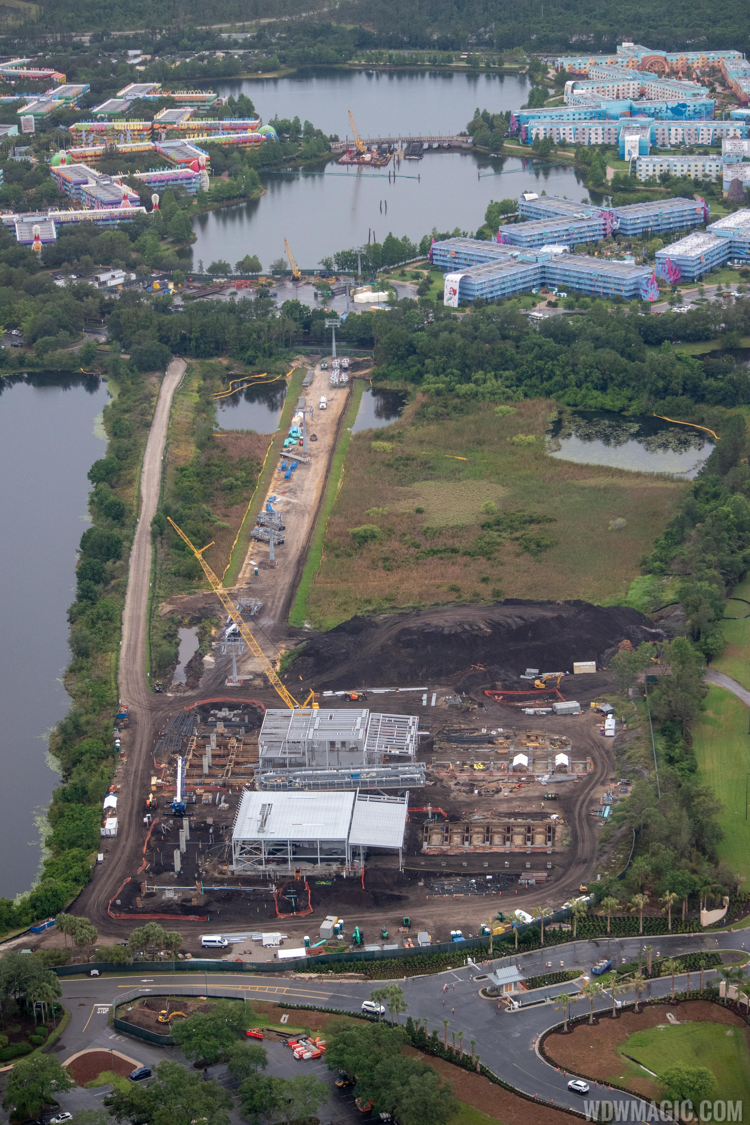 PHOTOS - Disney Skyliner views from the air
