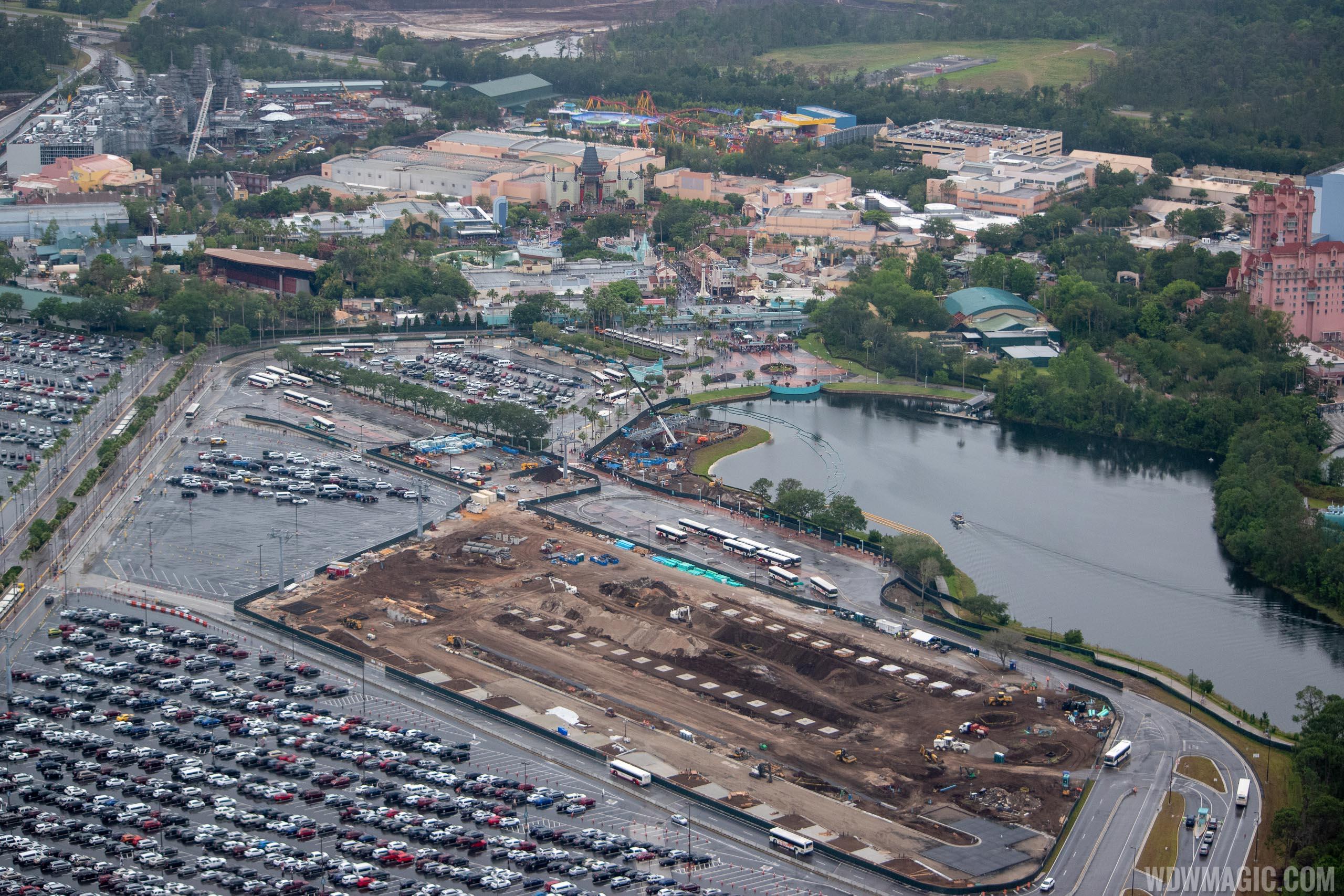 Disney Skyliner construction aerial views - May 2018