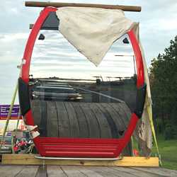 Disney Skyliner vehicles delivery - Photos by Kono in Orlando