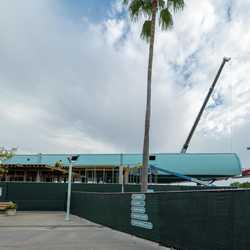 Disney Skyliner station construction at Disney's Hollywood Studios