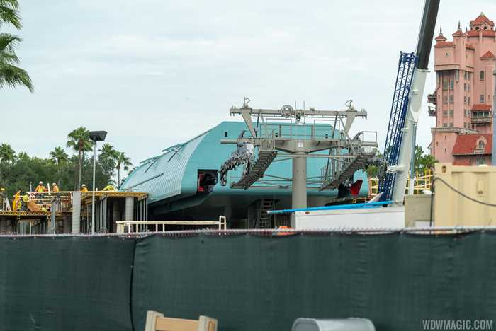 Disney Skyliner station construction at Disney's Hollywood Studios