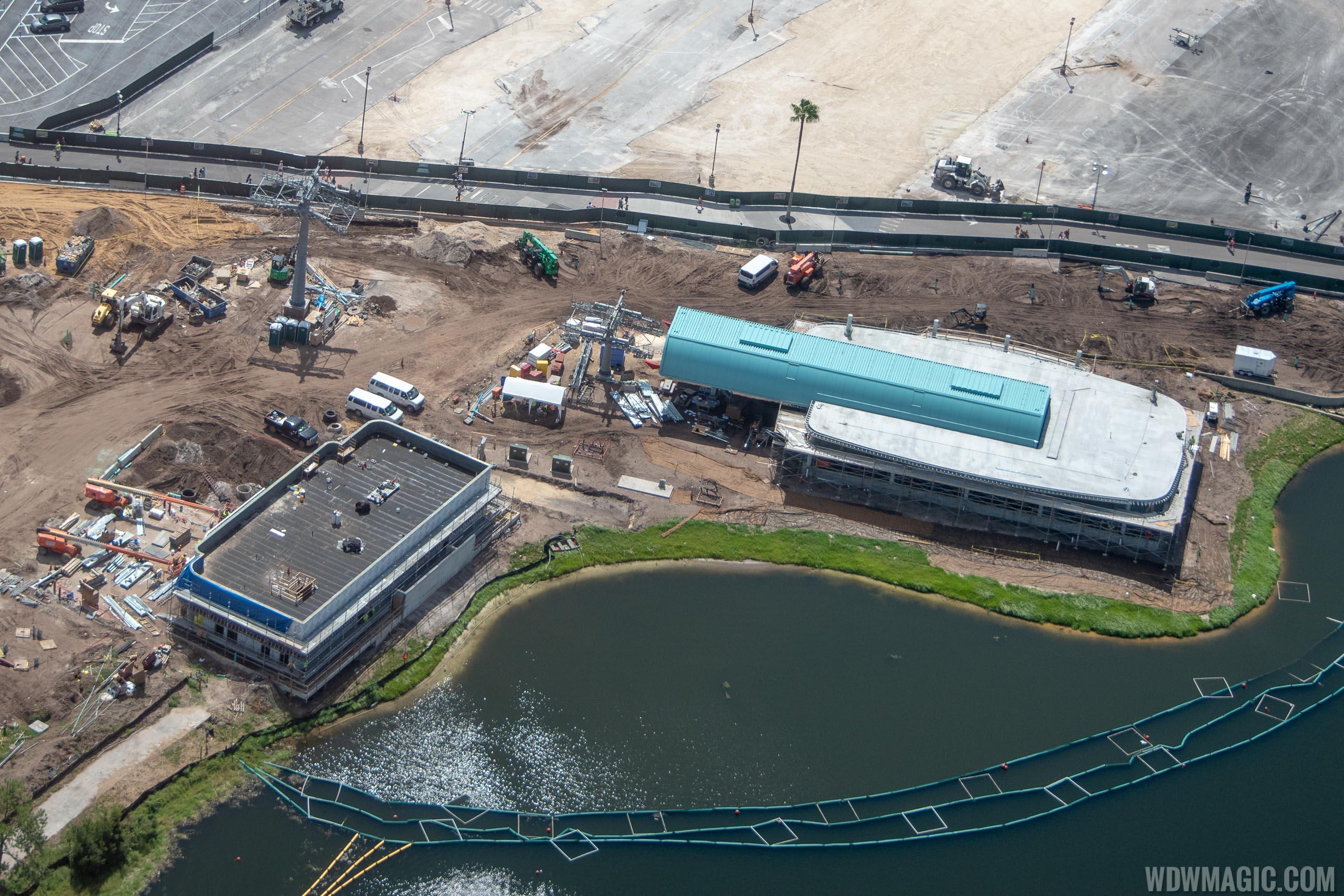 Disney Skyliner construction - Studios station