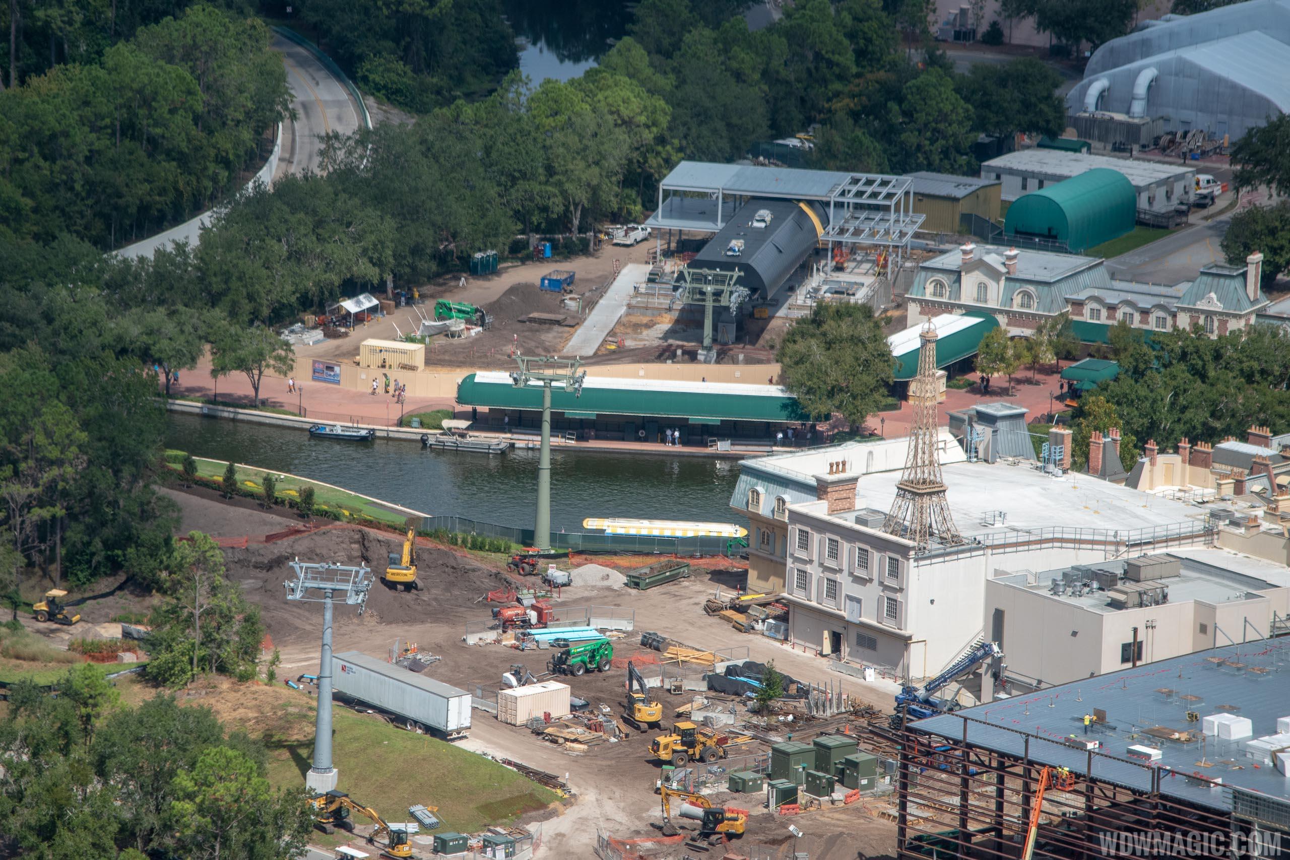 Disney Skyliner construction - Epcot station