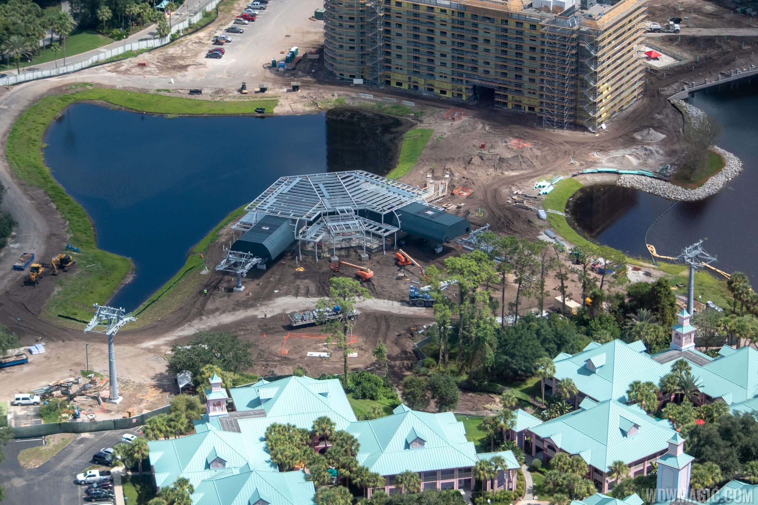 Disney Skyliner construction - Disney Riviera Resort