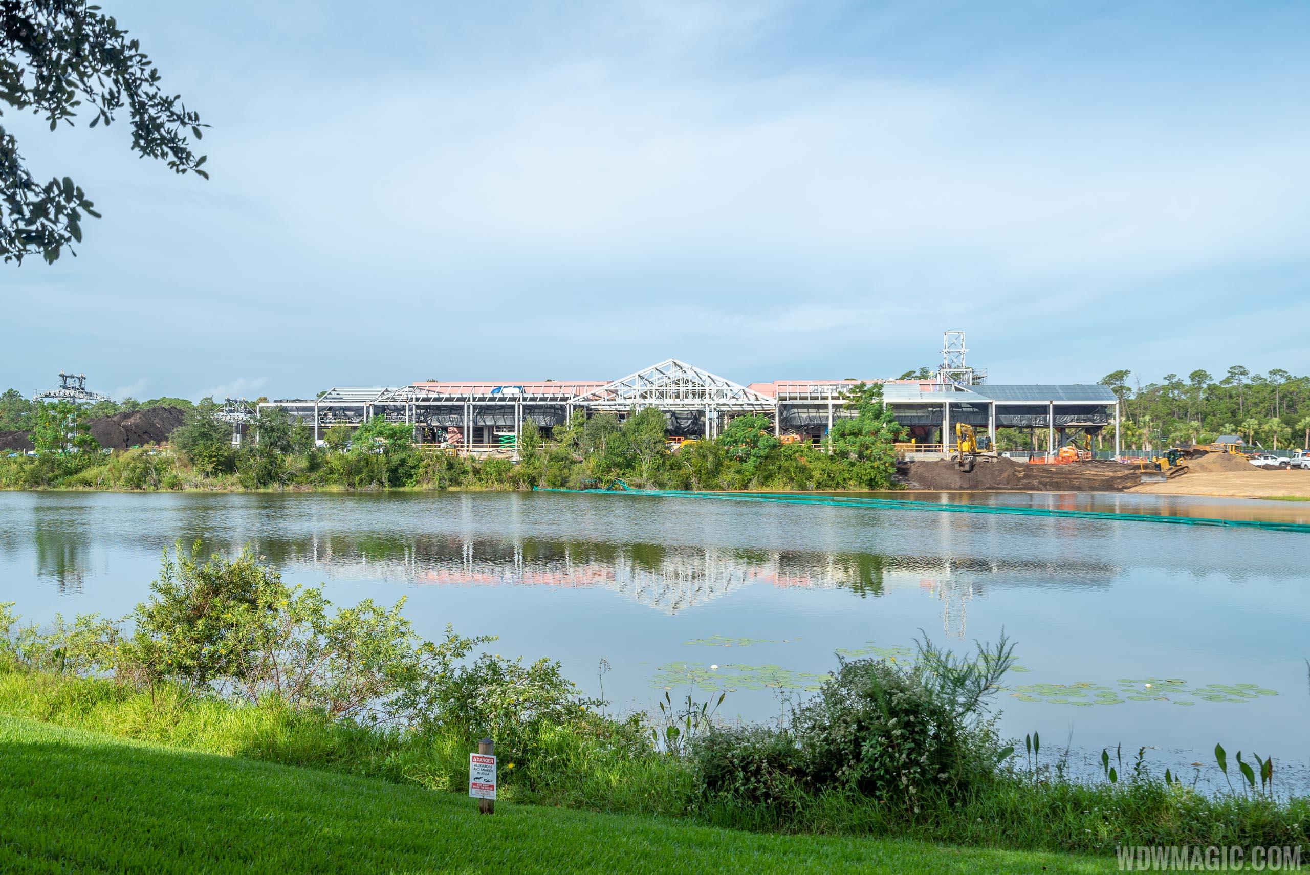 Disney Skyliner construction - Caribbean Beach Resort station